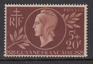 French Guiana B12 Red Cross mnh
