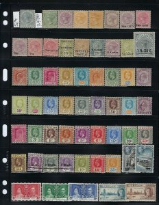 CEYLON- 100+ STAMPS FROM SCOTT #64 TO #356- SOME SETS- ALL MINT HINGED
