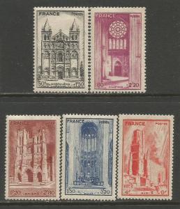 France  #B185-89  MH  (1944)  c.v. $3.00