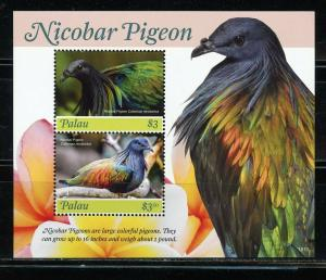 PALAU 2019 NICOBAR PIGEON SHEET OF TWO  MINT NEVER HINGED