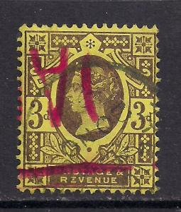 GB 1887 - 92 QV 3d Purple/Yellow Jubilee SG 202 /3 ( C285 )