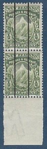 NEW ZEALAND c1905 ½d Mt Cook MNH pair 'Dickie Coil Trials'..................N415