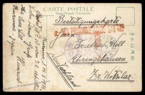 Germany 1916 WWI Kiautschou China POW Japan KURUME Camp Cover 95548