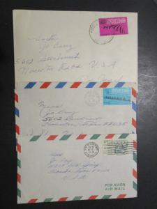 Mexico 5 Older Airmail Covers / 1 Post Card - M64