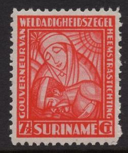 Surinam  #B7   MH 1928  nurse and patient   surtax stamps   7 1/2c