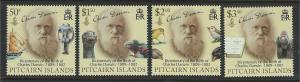 Pitcairn Islands Scott 686-689! Charles Darwin! Complete Set! MNH!