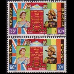 ETHIOPIA 1964 - Scott# C87-8 QEII Visit 35-60c Used
