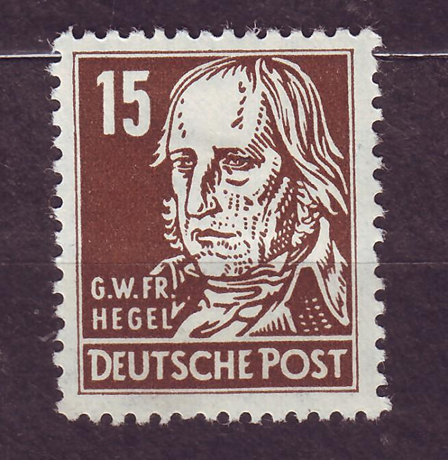 J14665 JLstamps 1953 germany DDR mh #126 hegel wmk 297