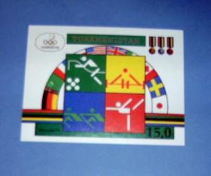 Turkmenistan - 23, MNH S/S...Barcelona. SCV - $11.00