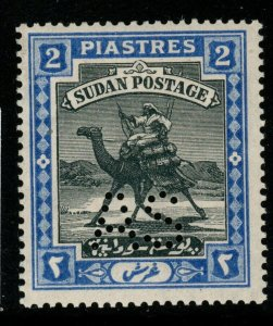 SUDAN SGA22 1913 2p GREEN & BROWN MNH