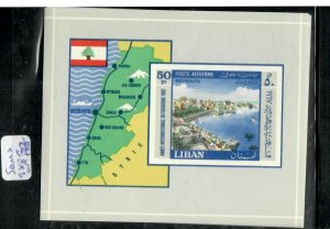 LEBANON   (PP0106B) MAP, TOURISM     S/S  SG MS  980A  MNH