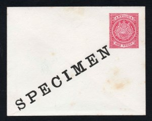 Antigua early SPECIMEN 1d Postal Stationery Envelope