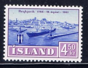 Iceland 339 NH 1961 Issue