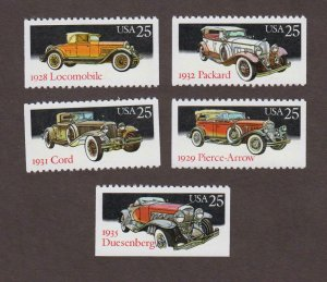 US,2381-85,ANTIQUE AUOTOMOBILES,VINTAGE 1980'S COLLECTION MINT NH,OG
