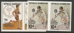 Dominican Republic SC C297-8 Imperf Pairs MNH (1cwd)