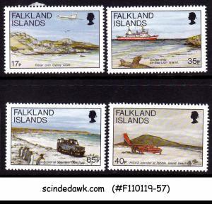 FALKLAND ISLANDS - 1994 TRANSPORTATION AVIATION SHIPS SC#616-19 4V MNH