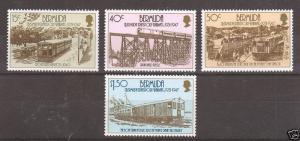 Bermuda Sc 510-513 MNH. 1987 Railroads, complete set, VF