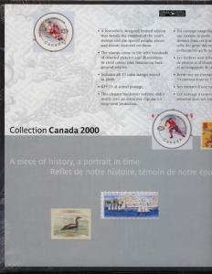 Annual Souvenir Collection The Postage Stamps of Canada 2000 USC #AC43 Cat. $85.