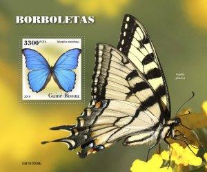 GUINEA BISSAU - 2019 - Butterflies - Perf Souv Sheet - M N H