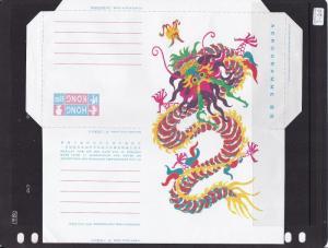Hong Kong $1.80c Aerogramme Dragon Unused VGC