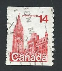 Canada # 730 14c Parliament, Ottawa coil (1978) used