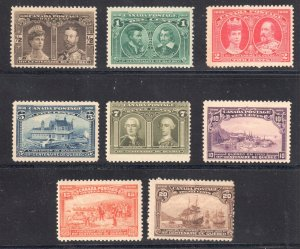 Canada #96 to 103 Mint Fine to VF H/LH Set C2,000.00++ Quebec Tercentenary Issu
