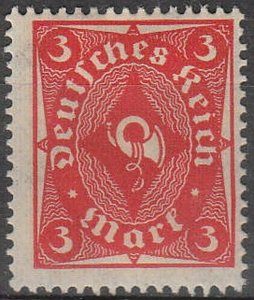 Stamp Germany Reich Mi 225 Sc 186 1922 Posthorn One Color Deutsches Empire MNH