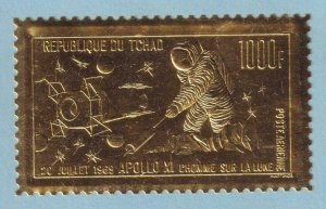 CHAD C60 GOLD FOIL AIRMAIL  MINT NEVER HINGED OG ** NO FAULTS EXTRA FINE!