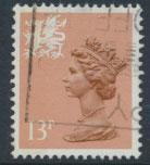 Great Britain Wales  SG W38ea SC# WMMH21 Used  see details 1 left side band