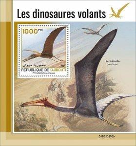 2021/05- DJIBOUTI - FLYING DINOSAURS           1V complet set    MNH ** T