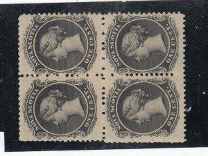 NOVA SCOTIA # 8-9 VF-MNH BLOCKS OF 4 CAT VALUE $320