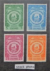 Venezuela 673-76. 1955 Postal Convention, NH