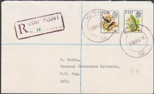 FIJI 1979 local cover registered UDU POINT to Suva.........................54486