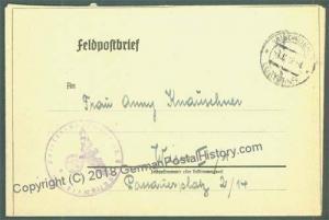 3rd Reich Waffen SS Polizei Regiment Braunschweig Feldpost Cover 24395