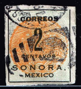 MEXICO STAMP SORONA ISSUE STAMP COLLECTION LOT #5 2C  ORANGE