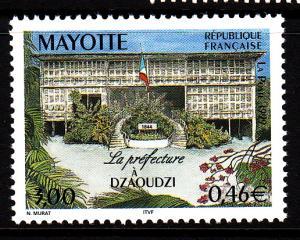 Mayotte MNH Scott #128 3fr Dzaoudzi Prefecture