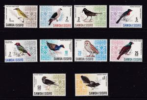 Samoa x 2 mint part sets,birds to $1 & shells to $2