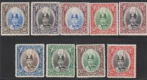 Kedah Scott #46 - 54 VF mint lightly hinged nice color cv $ 230 ! see pic !