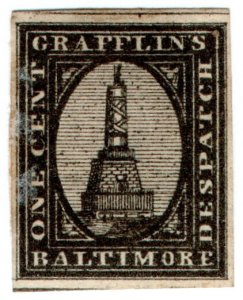 (I.B) US Local Post : Grafflin's Despatch 1c (Baltimore)