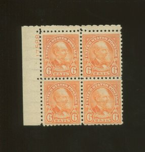 United States Postage Stamp #587 MNH VF Plate No. 17588 Block of 4