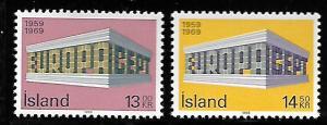 ICELAND 406-407 MNH C/SET EUROPA ISSUE 1969