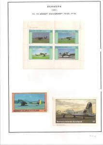 SCOTLAND - BERNERA - 1982 - WWII A'crft - 4v Perf. Min., D/L Sheets - MLH