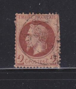 France 30 U Emperor Napoleon III SCV $25.00
