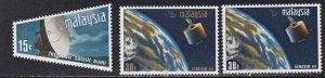 Malaysia #  63-65, Intelsat III, Satellite, NH, 1/2 Cat.