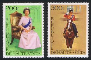 Upper Volta Silver Jubilee of Queen Elizabeth II 2v SG#448-449 SC#436-437