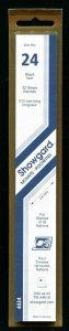 Showgard BLACK Strip Mounts Size 24 = 24mm Fresh New Stock Unopened