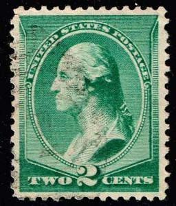 US STAMP #213 – 1887 2c Washington USED XFS - SUPERB