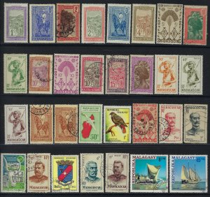 50 Madagascar / Malagasy Stamps mixed condition