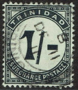 TRINIDAD 1905 POSTAGE DUE 1/- SHORT UPRIGHT STROKE VARIETY WMK MULTI CROWN CA U
