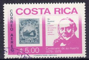 Costa Rica 1979 Sc#C752 Stamp on Stamp/Rowland Hill Fine Used